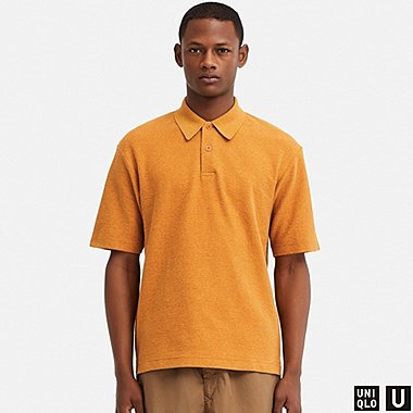 MEN UNIQLO U WASHED SHORT SLEEVED POLO SHIRT