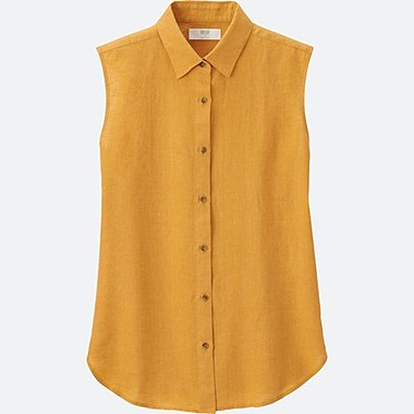 WOMEN Premium Linen Sleeveless Shirt