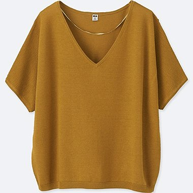 WOMEN Oversized V Neck Sweater
