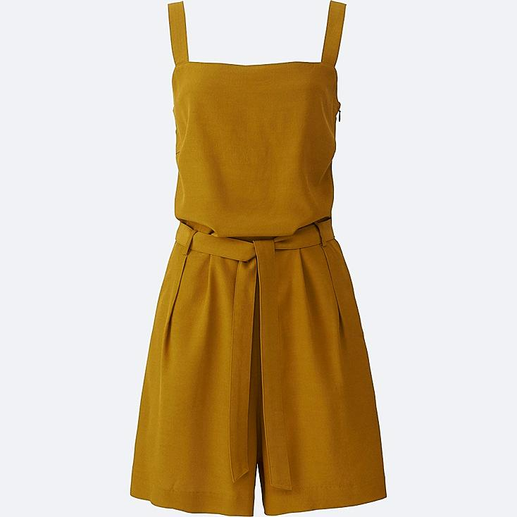 Women Romper, YELLOW, large