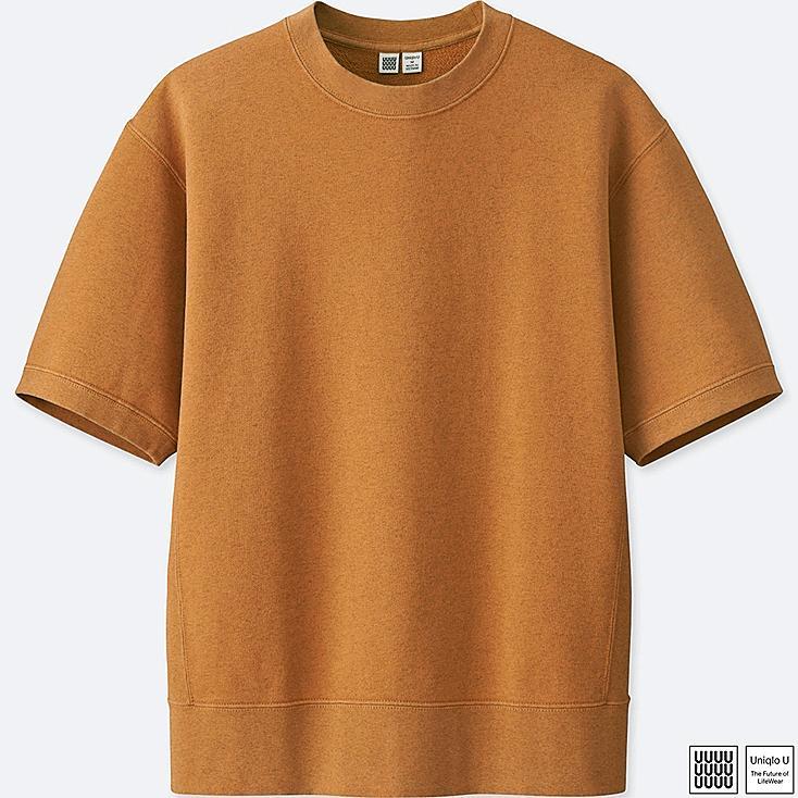 Men u short sleeve sweatshirt uniqlo us for Uniqlo t shirt sizing