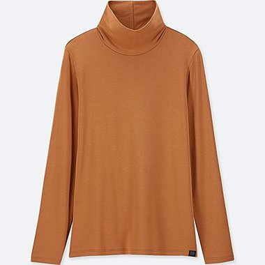 WOMEN HEATTECH EXTRA WARM TURTLENECK LONG SLEEVED T-SHIRT