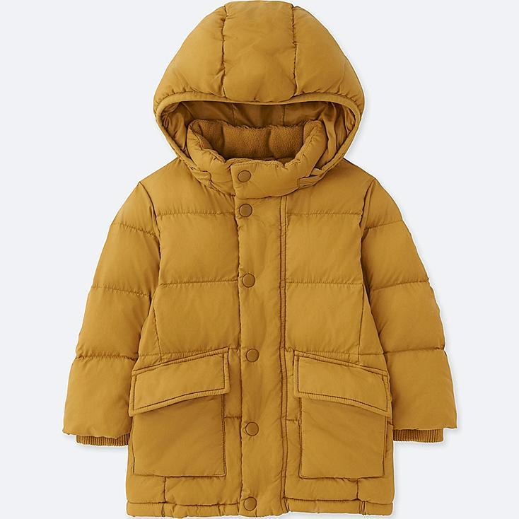 TODDLER WARM PADDED COAT, YELLOW, large