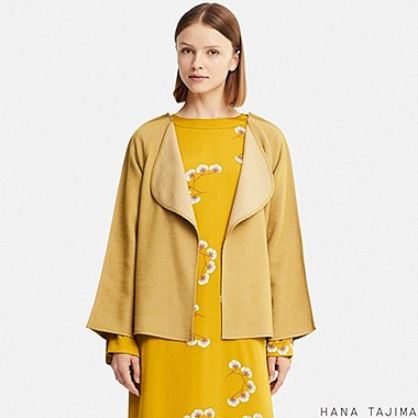 WOMEN HPJ DOUBLE FACE JACKET, YELLOW, medium
