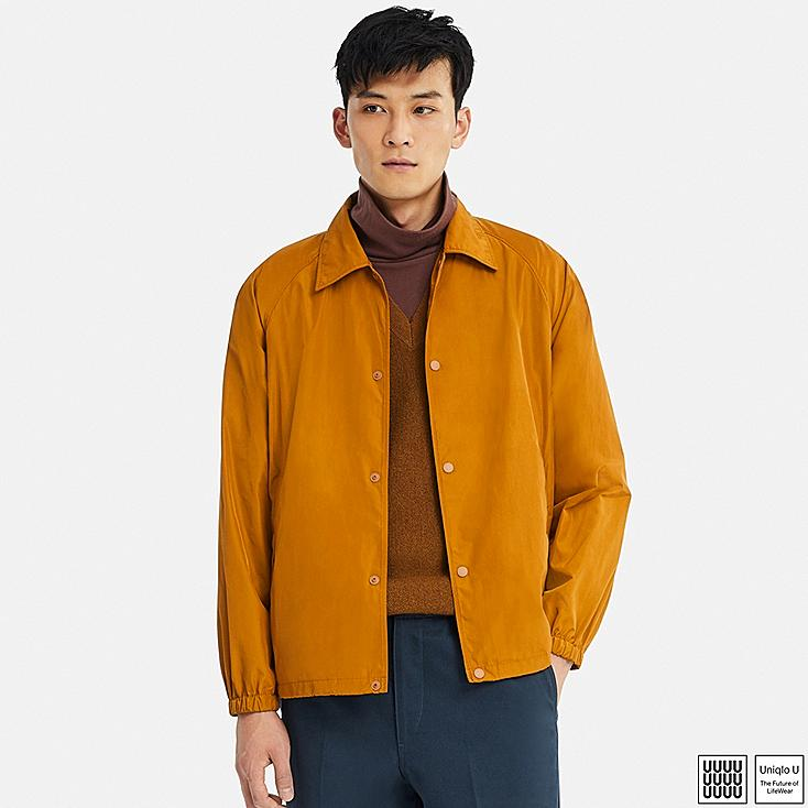 MEN U POCKETABLE COACH JACKET, YELLOW, large