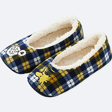 PEANUTS FLEECE SLIPPERS, YELLOW, medium