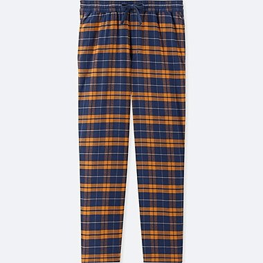 MEN FLANNEL EASY PANTS, YELLOW, medium