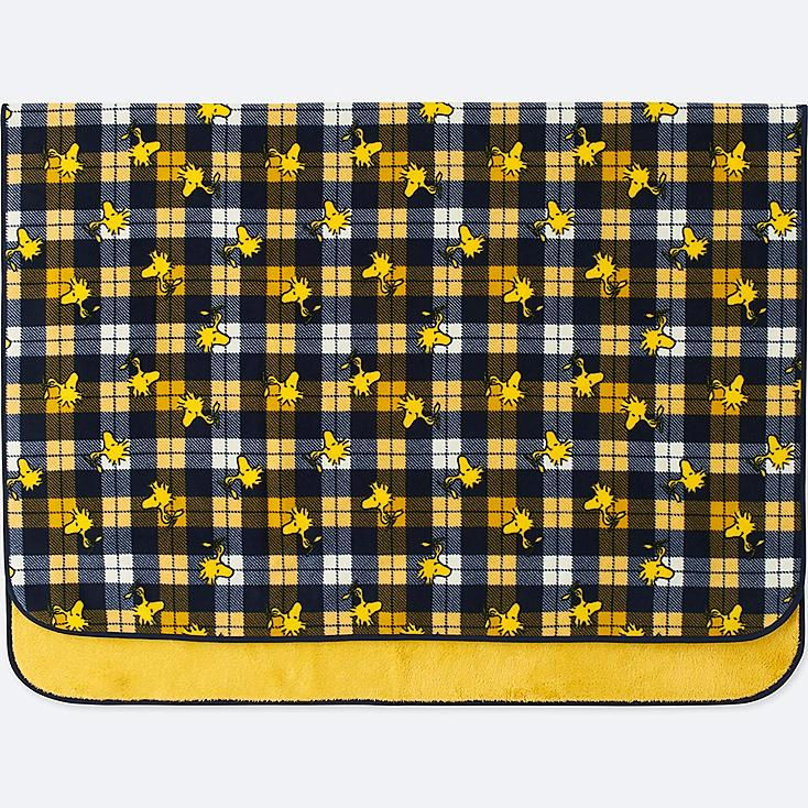 PEANUTS FLEECE LARGE BLANKET, YELLOW, large