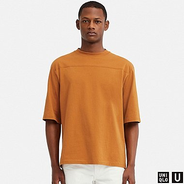 MEN UNIQLO U OVERSIZED CREW NECK HALF SLEEVED T-SHIRT