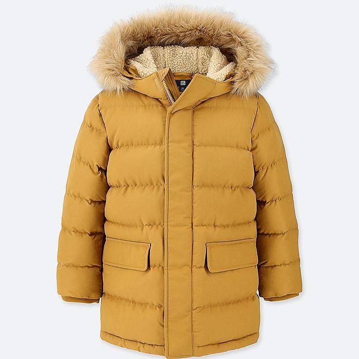 BOYS WARM PADDED COAT, YELLOW, large