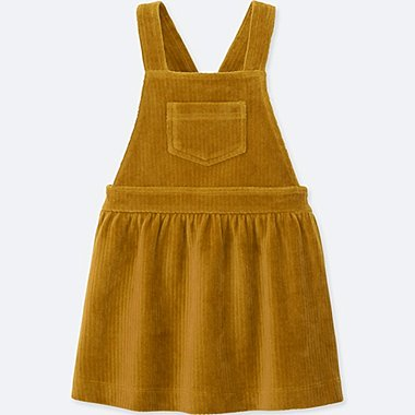 TODDLER LONG-SLEEVE JUMPER DRESS, YELLOW, medium