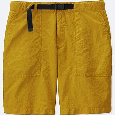 Relaxed Utility Shorts, MUSTARD, medium