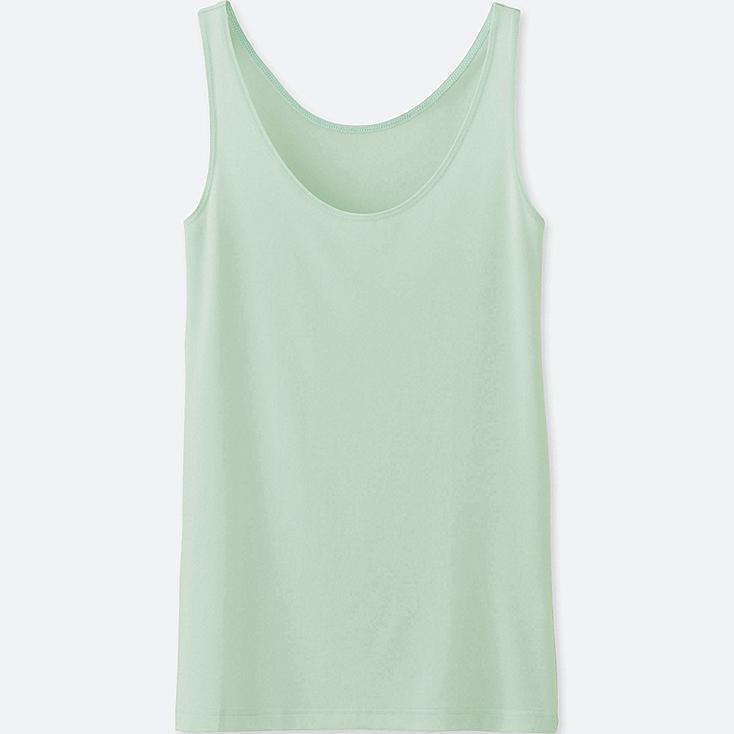 WOMEN AIRism SLEEVELESS TOP, LIGHT GREEN, large