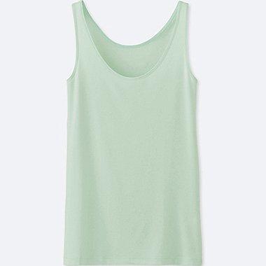 WOMEN AIRism SLEEVELESS TOP, LIGHT GREEN, medium