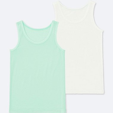 TODDLER AIRism MESH TANK TOP (SET OF 2), LIGHT GREEN, medium