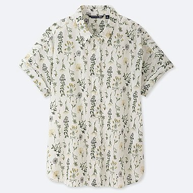 WOMEN STUDIO SANDERSON COTTON SHORT SLEEVE SHIRT