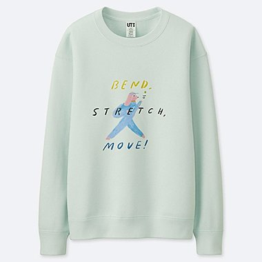 WOMEN AND HAVE FUN ! BY GRACE LEE SWEATSHIRT, LIGHT GREEN, medium
