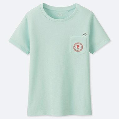 GIRLS SUMIKKOGURASHI UT (SHORT-SLEEVE GRAPHIC T-SHIRT), LIGHT GREEN, medium