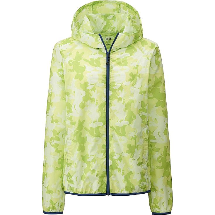 Women Disney Project Packable Parka, GREEN, large