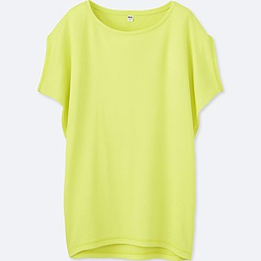 WOMEN DRY YOGA SHORT-SLEEVE T-SHIRT, GREEN, medium