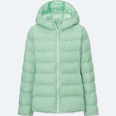 GIRLS LIGHT WARM PADDED PARKA, GREEN, medium