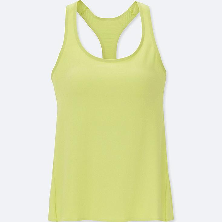 WOMEN AIRism SEAMLESS RACERBACK BRA SLEEVELESS TOP, GREEN, large