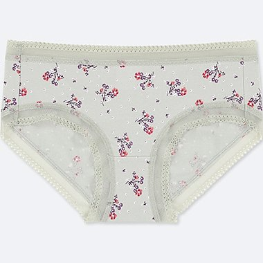 WOMEN LOW RISE FLORAL PRINT HIPHUGGER BRIEFS