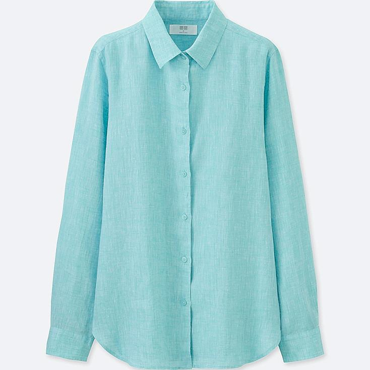 WOMEN Premium Linen Long Sleeve Shirt