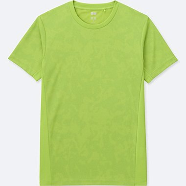 Mens DRY-EX Crew Neck T-Shirt, GREEN, medium