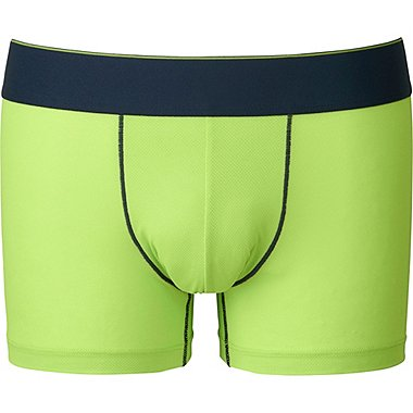 Mens AIRism Mesh Low Rise Boxer Briefs, GREEN, medium