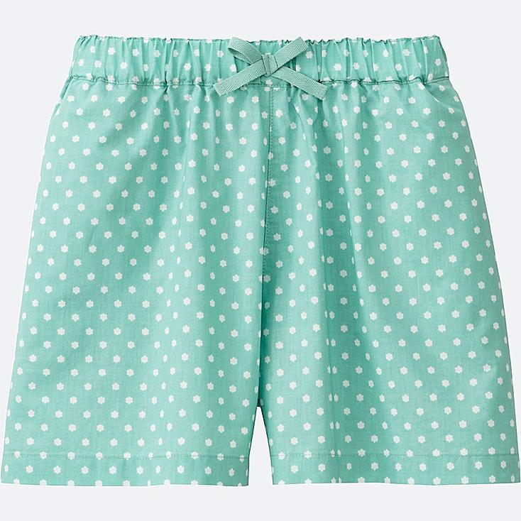 GIRLS EASY FLARE SHORTS, GREEN, large