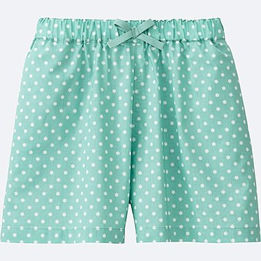 GIRLS EASY FLARE SHORTS, GREEN, medium