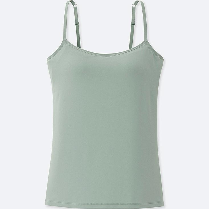 WOMEN AIRism BRA CAMISOLE, GREEN, large