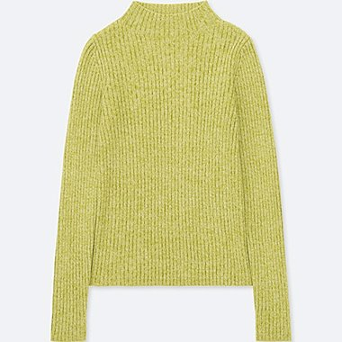 WOMEN RIBBED MOCK NECK SWEATER