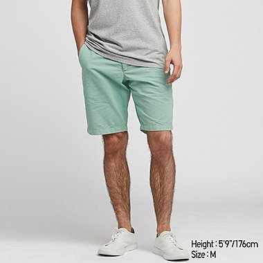 MEN CHINO SHORTS, GREEN, medium