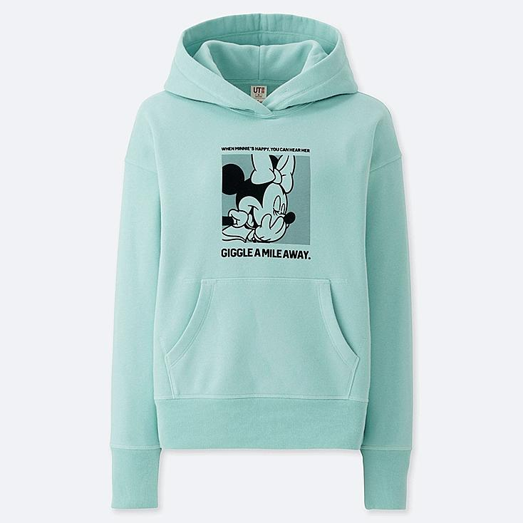 WOMEN CELEBRATE MICKEY GRAPHIC HOODED SWEATSHIRT, GREEN, large