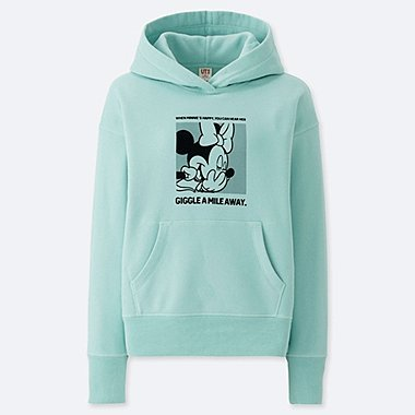WOMEN CELEBRATE MICKEY GRAPHIC HOODED SWEATSHIRT, GREEN, medium