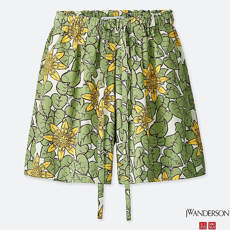 WOMEN FLARE SHORTS (JW Anderson), GREEN, large