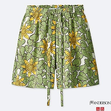 WOMEN FLARE SHORTS (JW Anderson), GREEN, medium