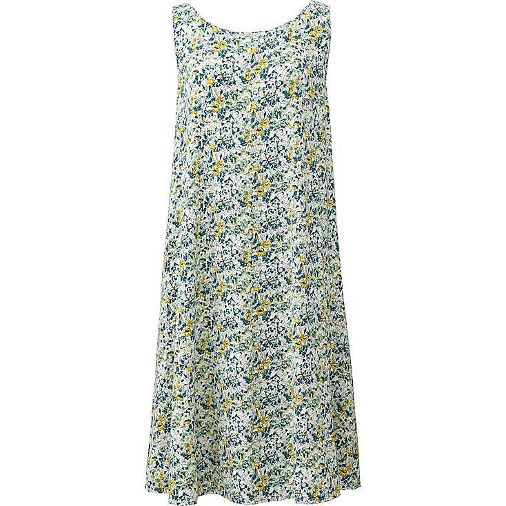 WOMEN Flare Printed Sleeveless Dress