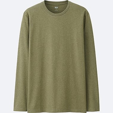 MEN Supima Cotton Crew Neck Long Sleeve T-shirt