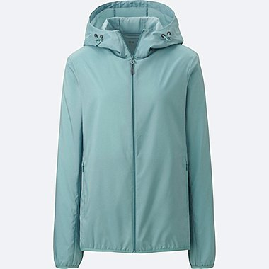 WOMEN POCKETABLE PARKA, GREEN, medium