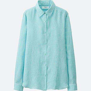 WOMEN Premium Linen Long Sleeve Shirt