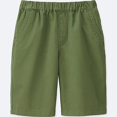 BOYS TWILL EASY SHORTS, GREEN, medium