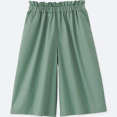 GIRLS GAUCHO PANTS, GREEN, medium