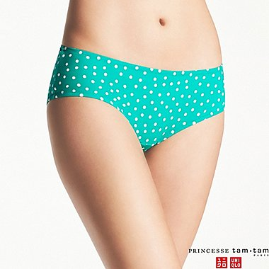 WOMEN PRINCESSE TAM.TAM DOT-PRINT HIPHUGGER SWIM SHORTS, GREEN, medium
