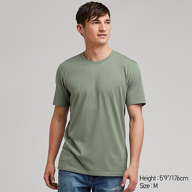 MEN SUPIMA® COTTON CREW NECK SHORT-SLEEVE T-SHIRT, GREEN, large
