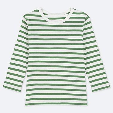 TODDLER CREW NECK LONG-SLEEVE T-SHIRT, GREEN, medium
