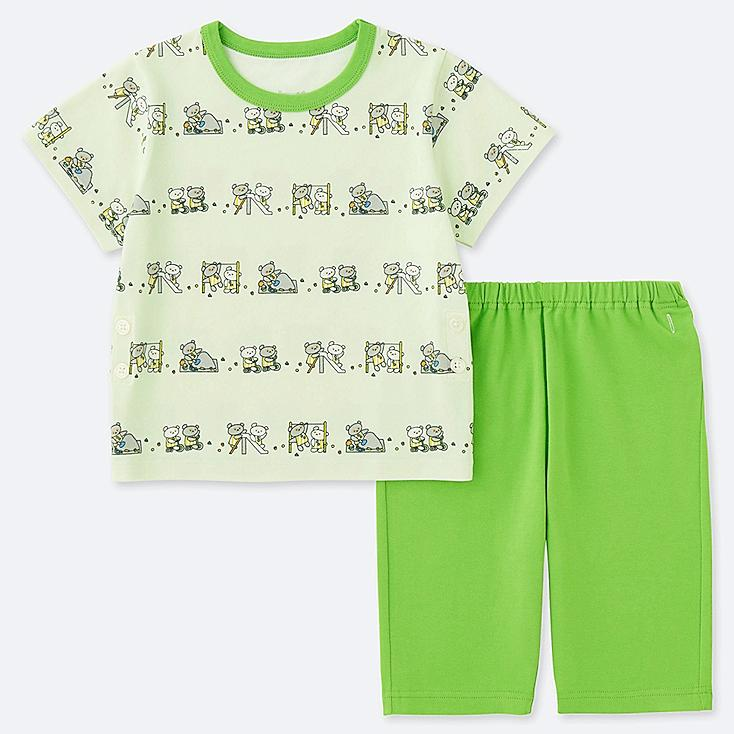 TODDLER The Picture Book SHORT-SLEEVE DRY PAJAMAS, GREEN, large