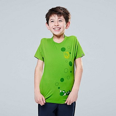 KIDS SUPER MARIO UT (SHORT-SLEEVE GRAPHIC T-SHIRT), GREEN, medium